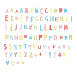 Lightbox letter set - Funky colour