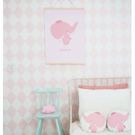 Plakat: Slonček pink