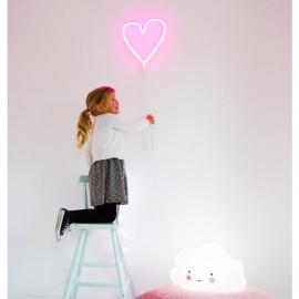 Neonska lučka - Roza srček