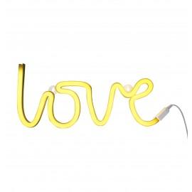 Neonska lučka - Love rumena