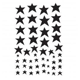 Stenske nalepke - Črne zvezdice