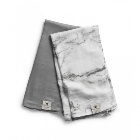 Mehka muslin odejica - Marble Grey