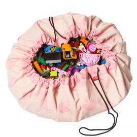 Vreča za shranjevanje igrač in podloga Play&Go 2v1 - Pink Elephant