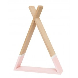 Stenska polica Tipi - Pink